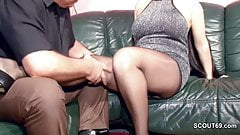 Hairy German MILF in Nylon gets Hard Fuck and Cum On